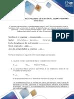 Anexo 1 Formato Diagnostico Procesos de GTH