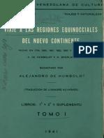 A. v. Humboldt-Viaje a Las Regiones Equinocciales Tomo 1