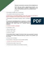 Questionário Da Unidade i Da Disciplina de Relações Interpessoais