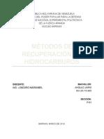 Métodos de Recuperación de Hidrocarburos