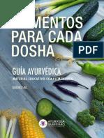 AQ Guia de Alimentos Para Cada Dosha Ayurveda 2019