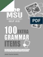 Msu c2 100 Extra Grammar Items Student