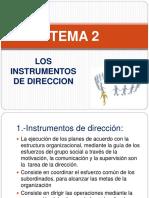 137127245 Tema 2 Los Instrumentos de Direccion