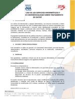 Normas Para El Uso de Servicios Informáticos y Compromiso de Confidencialidad