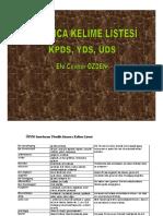 Almanca Kelime Listesi [KPDS-YDS-ÜDS]