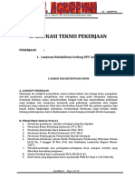 Spesifikasi Teknis Pekerjaan UPF ANAK