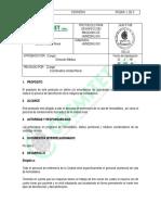 Protocolo de Desinfección Hemodialisis