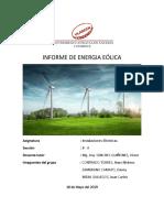 Informe de Energia Eólica