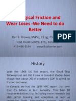 Tribological Friction and Wear Losses - We Need to Do Better STLE Nov 14 2018