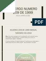 Acuerdo Numero 209 de 1999