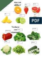Frutas y Verduras Con Vitamina c