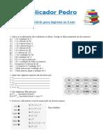 Exercicio Multiplos,Divisores, Primos 07-05