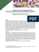 Carmen Miranda e Sua Contribuição Para a Identidade Nacional Brasileira Através Do Figurino
