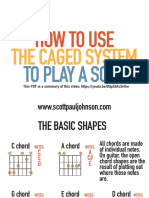 How to Use the CAGED System to Play a Solo guitar