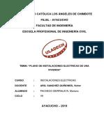 Tema. Plano de Instalaciones Electricas de Una Vivienda