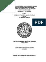 Recursos Administrativos - Allan Chiquin