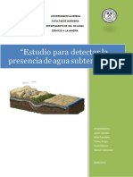 Metodos de Exploracion de Aguas Subterraneas