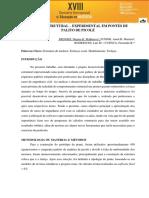 Análise Estrutural – Experimental Em Pontes de Palito de Picolé