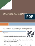 1 the Nature of Strategic Management