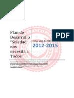 PLAN DE DESARROLLO DE SOLEDAD