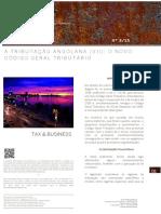 A Tributacao Angolana -VII- O Novo Codigo Geral Tributario