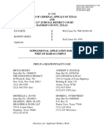 Rodney Reed Supplemental Application for Writ of Habeas Corpus