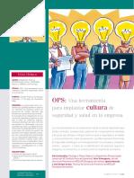 OPS_ Una Herramienta Para Implantar Cultura de Seguridad y Salud en La Empresa
