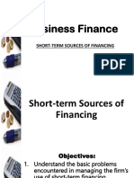 Business Finance PPT_12 Short Term Sources of Financing