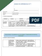 Unidad de Aprendizaje Agosto Word PDF