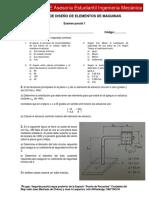 Examen Parcial 1 Diseño de elementos de maquina