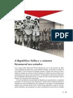 A República Velha e o Sistema Bicameral Nos Estados