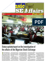 Forensic Report on NSE Affairs