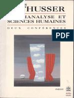 Louis Althusser - Psychanalyse Et Sciences Humaines_ Deux Conférences-Librairie Générale Francaise (1996)