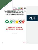 P21 Mesa Distrital Reciclaje