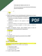 Cuestionario Tributacion II 4to b