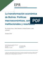 La transformación económica de Bolivia