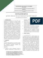Preinforme 4-Destilación Batch