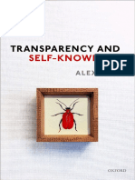 Alex Byrne - Transparency and Self-Knowledge-Oxford University Press (2018)