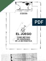 EL JUEGO COMO ENSEÑANZA DE LA MATEMÁTICA 2da edición
