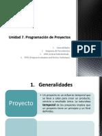 Programacion de proyectos