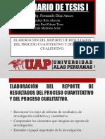 Elaboracion Del Reporte de Resultados Del Proceso Cuantitativo y Cualitativo