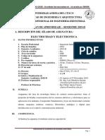 SILABO Electricidad Electronica
