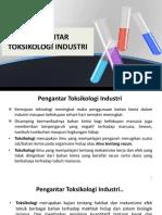 Sesi 1 Pengantar Toksikologi Industri