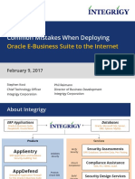Deploying Oracle EBS to the Internet