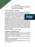 SBC Y REDUCCIÓN DE LESIONES UNA ENCUESTA DE LA PRUEBA