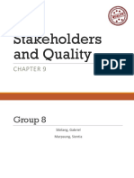 Stakeholders & quality