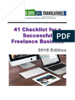 41 Checklist for a Successful Freelance Business
