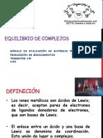 Equilibrio de Complejos Modulo VI 19P