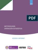 Documento Metodologico Acceso a Internet