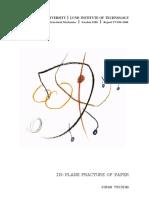 Paper Fracture Properties